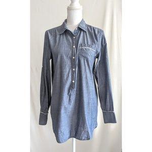 J crew Blue Chambray Shirt Dress